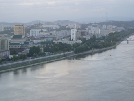 Blick auf Pjöngjang