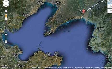Dandongs geographische Lage