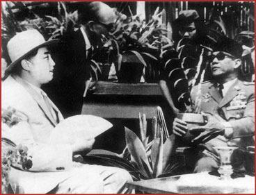 Kim Il Sung und Sukarno 1965