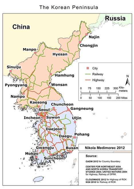 traffic ways korean peninsula