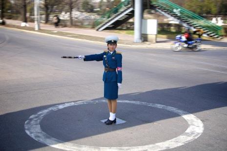Verkehrspolizistin in Pjöngjang