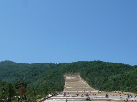 Bauarbeiten am Masik-Ski-Ressort (Foto und Rechte: Nordkorea-Reise.de)